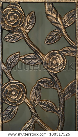 Cast Iron roses - stock photo