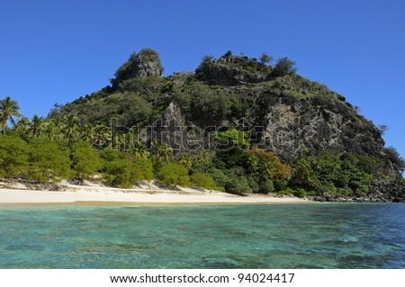 Castaway island - stock photo