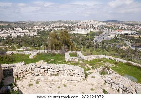 Castel, Al-Qastal, Jeruslaem,  - stock photo