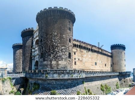 Castel Nuovo castle in Naples, Italy - stock photo