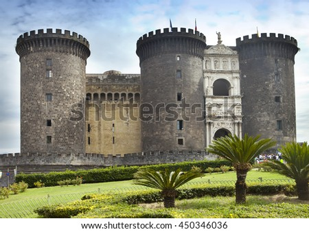 Castel nuovo (New Castle) or Castle of Maschio Angioino in Naples, Italy.