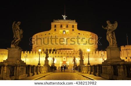 Castel Sant Angelo, Rome - stock photo