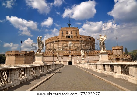 Castel Sant' Angelo, Rome, Italy - stock photo