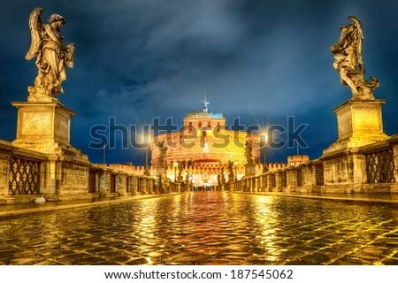 Castel Santangelo, Rome, Italy - stock photo