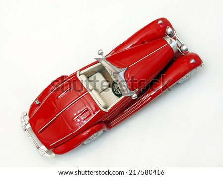 Castellon,Spain.September 16th,2014.Collectible toy car over white background  - stock photo