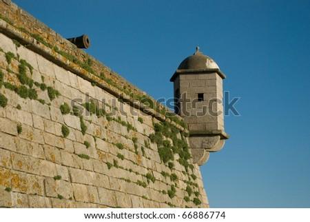 Castelo do Queijo or Castle of the Cheese or Forte de S�£o Francisco Xavier in Porto, Portugal - stock photo