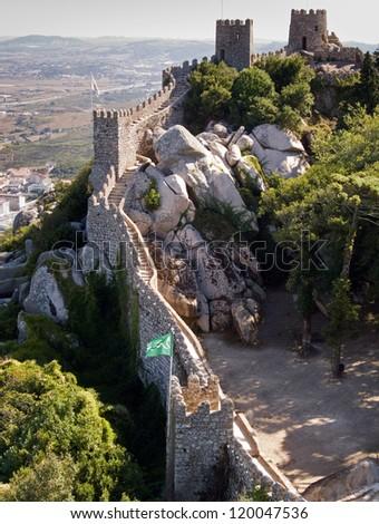 Castelo dos Mouros - Sintra (Portugal) - stock photo