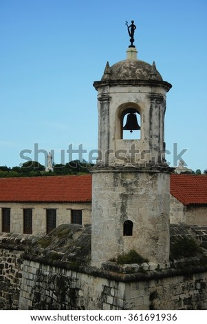 Castillo de la Real Fuerza, Iconic fort by the harbor in Havana, Cuba - stock photo