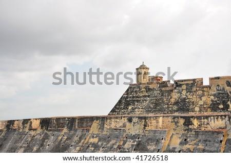 Castillo de San Felipe de Barajas Spanish Fort in Cartagena Colombia - stock photo