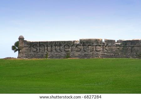 Castillo de San Marco - ancient fort in st. augustine florida - stock photo