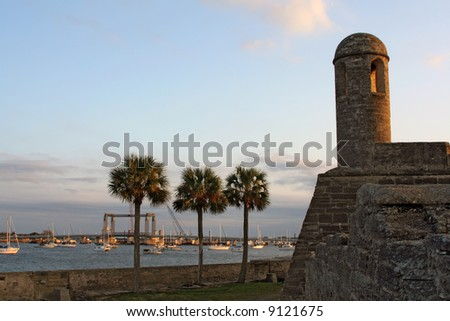 castillo de san marcos in st. augustine, florida - stock photo
