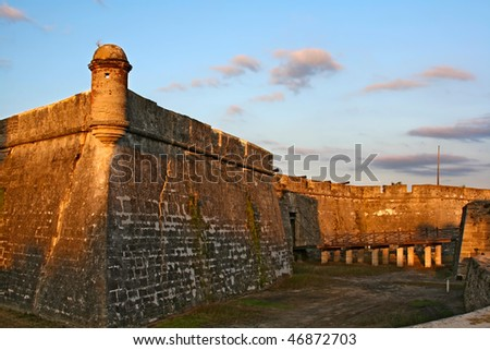 Castillo de San Marcos in St. Augustine, Florida, USA - stock photo