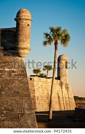 Castillo de San Marcos National Monument in St. Augustine, Florida - stock photo