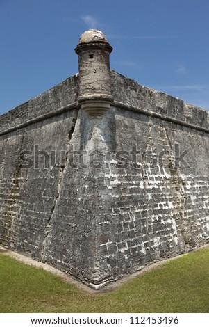 Castillo de San Marcos.  St. Augustine, FL, USA. - stock photo