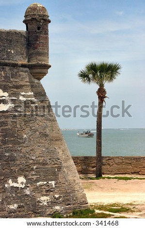 Castillo de San Outside of Marcos National Monument in St. Augustine, Florida - stock photo