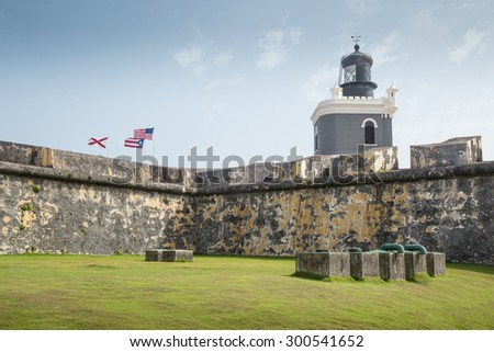 Castillo San Felipe del Morro in old San Juan, Puerto Rico - stock photo