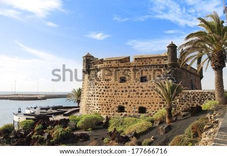 Castillo San Jose in Arrecife, Lanzarote, Canary Islands - stock photo
