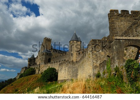 Castle at Carcassonne, France - stock photo