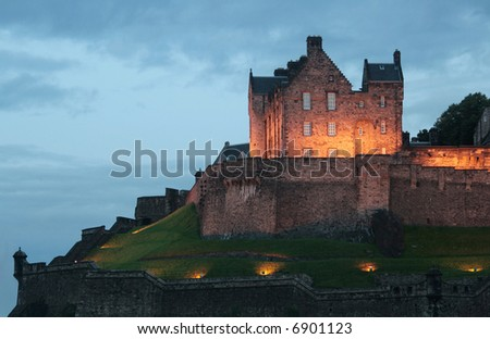 Castle at Dusk - stock photo