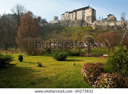 castle Cesky Sternbek, Bohemia - stock photo