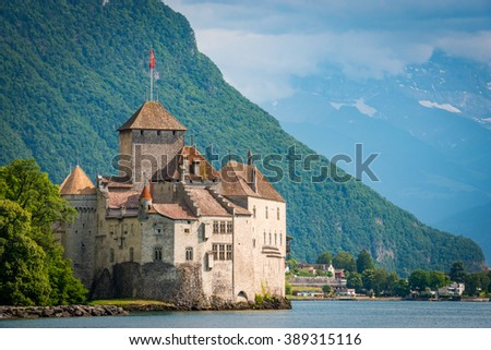 Castle Chillon, Lake Geneva, Switzerland