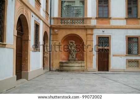 castle courtyard - stock photo