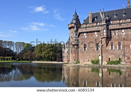 Castle 'De Haar' near Utrecht  in the Netherlands