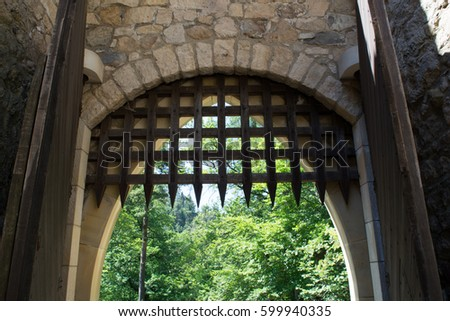Castle Gate Stock Photo Royalty Free 599940335