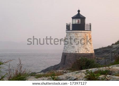 Castle Hill Lighthouse Newport Rhode Island - stock photo