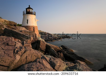 castle hill lighthouse Newport RI - stock photo