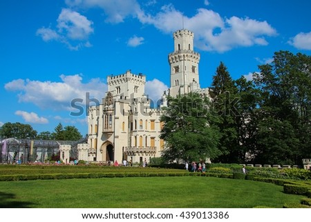castle Hluboka, Czech republic, Europe