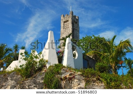 Castle in Bahamas - stock photo