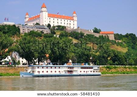 Castle in Bratislava - Slovakia - stock photo