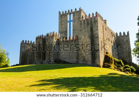 castle in Guimaraes, northern Portugal