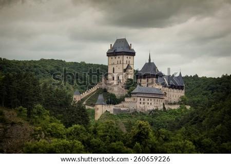 Castle Karlstejn in Czech Republic - stock photo