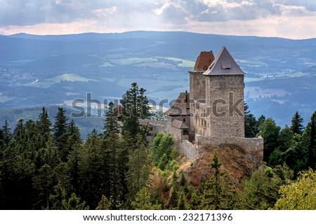castle Kasperk in Czech Republic - stock photo