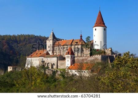 castle Krivoklat, Bohemia - stock photo