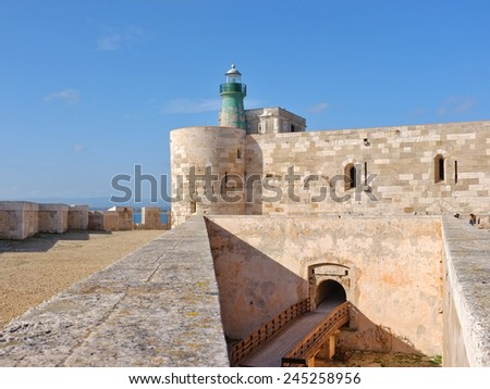 Castle Maniace in Ortigia Old Town, Sicily - stock photo