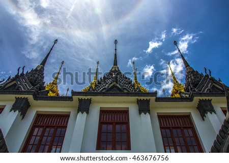 Castle Metals Wat Ratchanatdaram one in three of the world. Travel Essentials Bangkok Thailand and corona sun