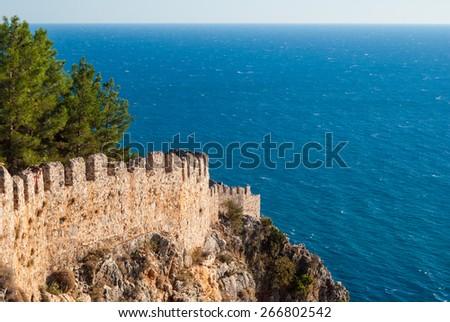 castle of Alanya, Antalya, Turkey - stock photo