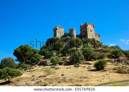 castle of Almodovar del Rio, Cordoba, Spain - stock photo