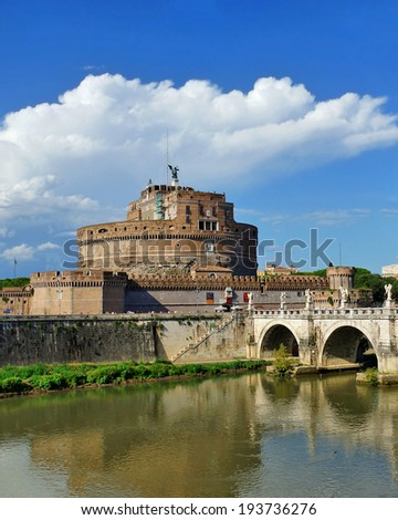 Castle of Angels, Rome, Italy - stock photo
