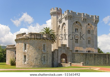 Castle of Arteaga, Bizkaia, Spain - stock photo