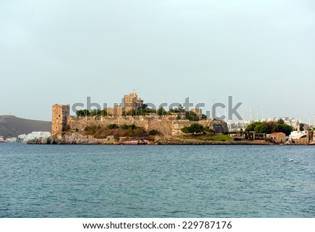 Castle of Bodrum - stock photo