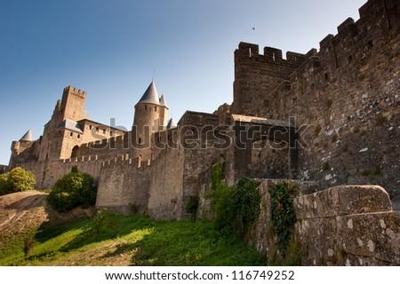 Castle of Carcassone, France. - stock photo