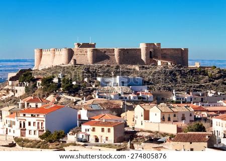 castle of Chinchilla, Chinchilla de Monte-Aragon. Albacete, Spain - stock photo