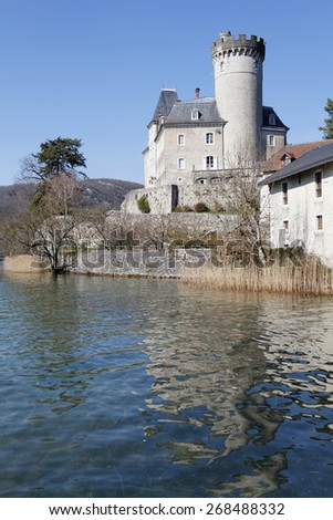 Castle of Duingt, and Annecy Lake
