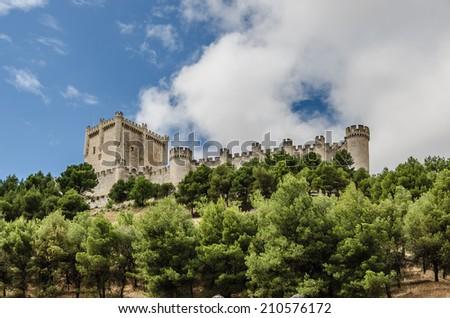 Castle of Peñafiel. Valladolid, Ribera del Duero, Castilla y Leon, Spain - stock photo