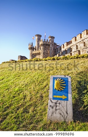 Castle of Ponferrada in the Camino de Santiago, Leon, Spain - stock photo