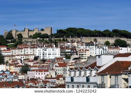 Castle of S. Jorge, Lisbon, Portugal, Europe - stock photo